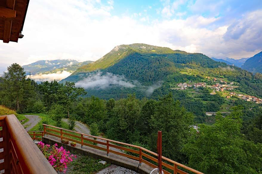 Beautiful view over Val di Chiese region in Trentino Italy