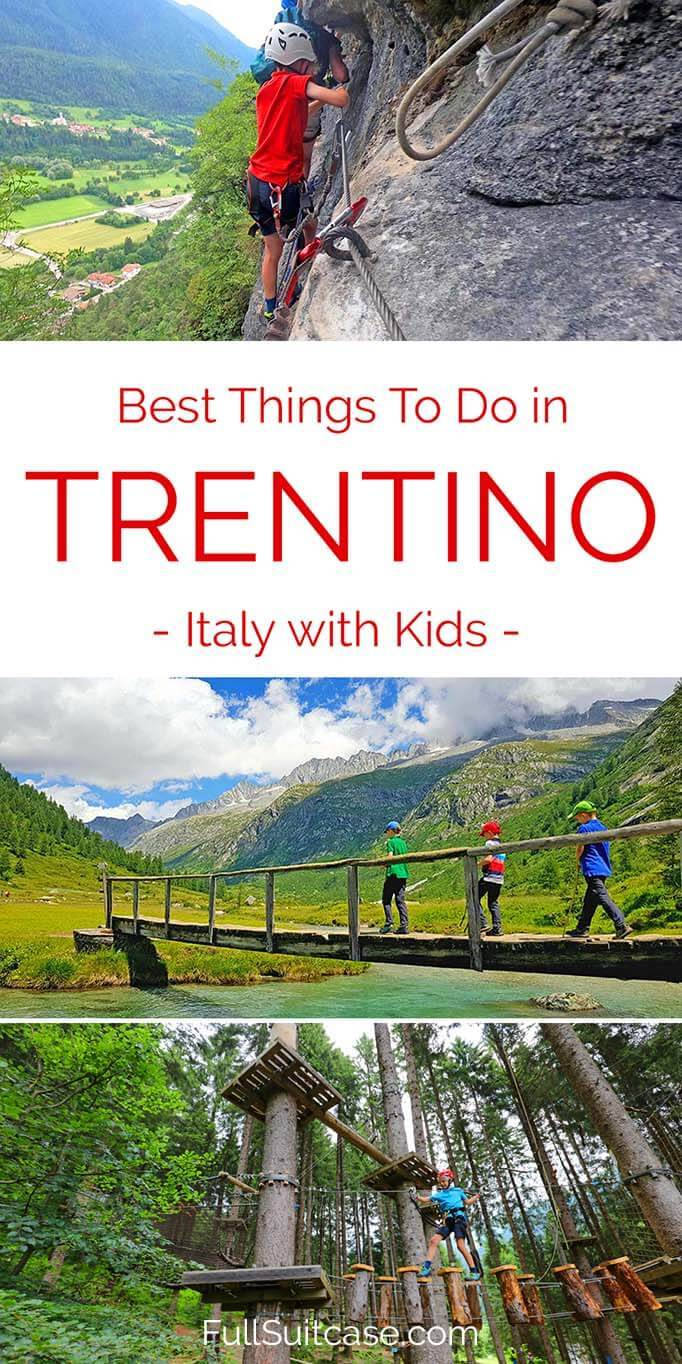 Best things to do in Trentino with kids in summer - adventure holiday in Northern Italy