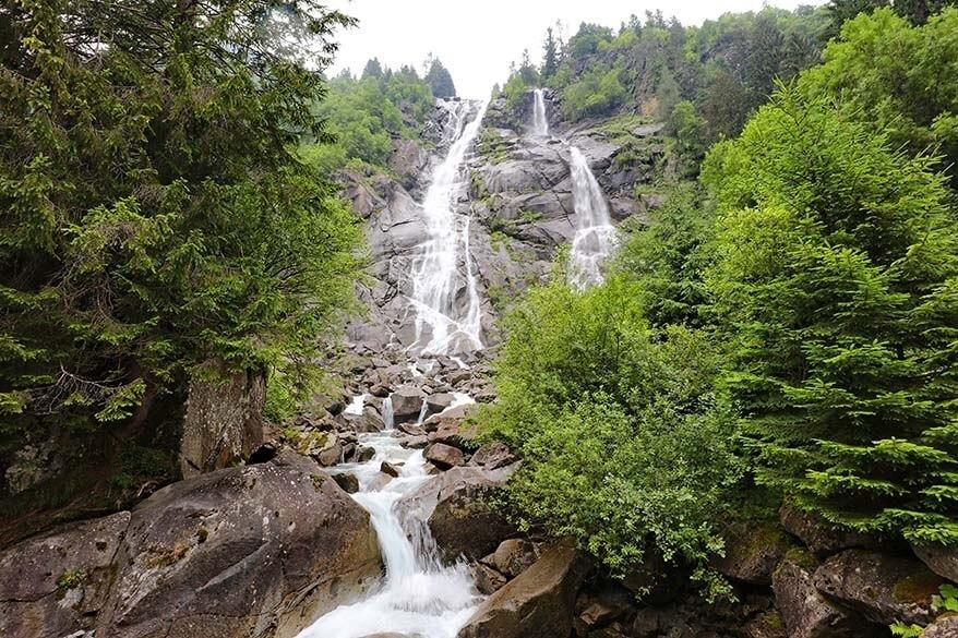 Cascate di Nardis waterfall in Val di Genova in Italy