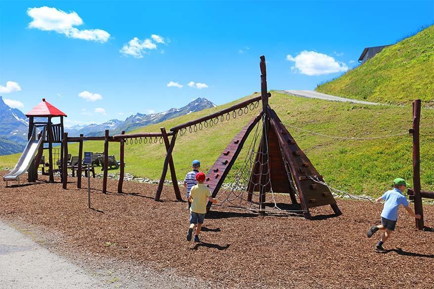 Children's playground at Galzigbahn in St Anton in Tyrol, Austria