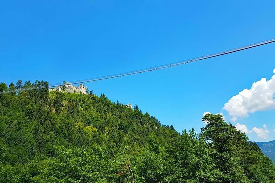 Highline 179 suspension bridge in Tyrol Austria
