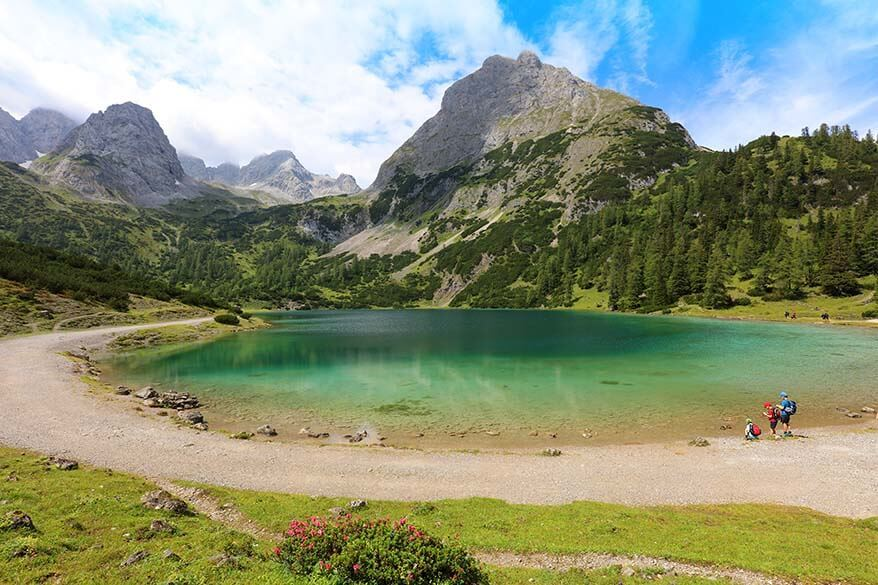 Seebensee - one of the most beautiful lakes in Tirol Austria