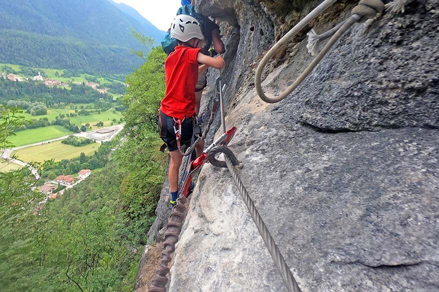 Via Ferrata with kids - Ferrata Preore Trentino Italy