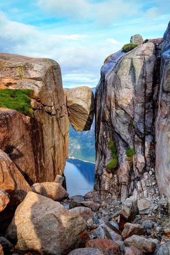 Kjeragbolten is one of the most popular hikes near Stavanger