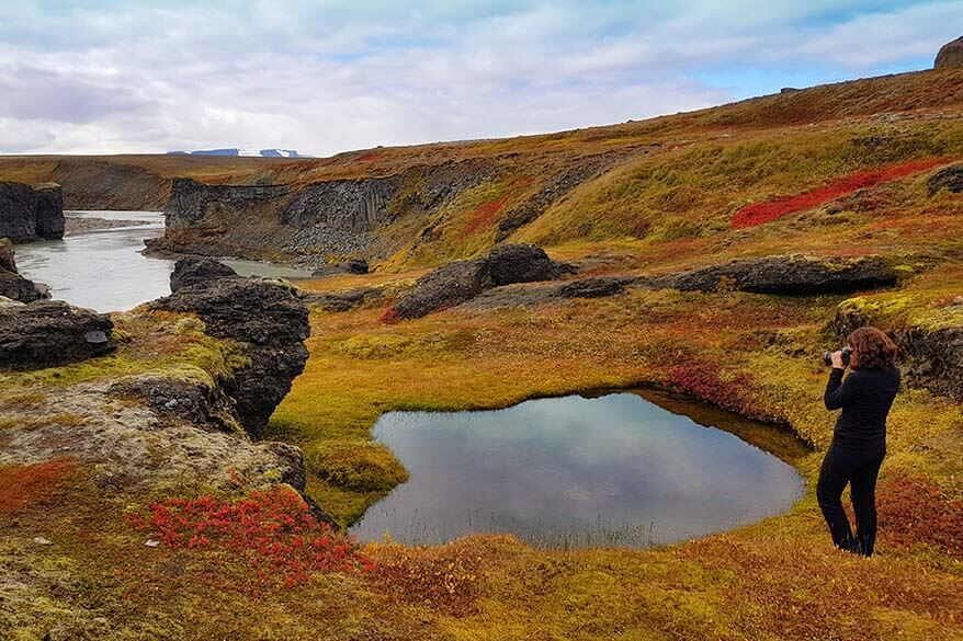 Autumn colours in Icelandic highlands in September