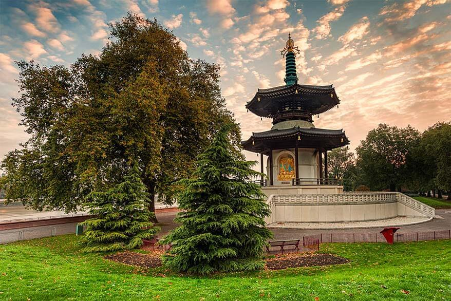 Battersea Park Pagoda - one of the less known places in London