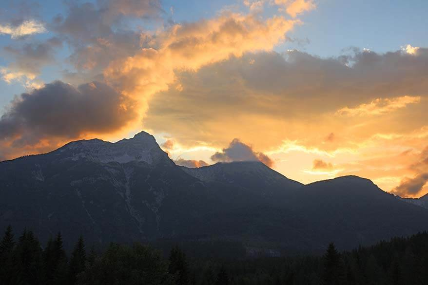 Beautiful sunset in the mountains - Ehrwald, Austria