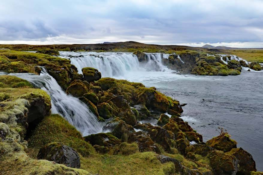 Beautiful waterfall in Icelandic highlands