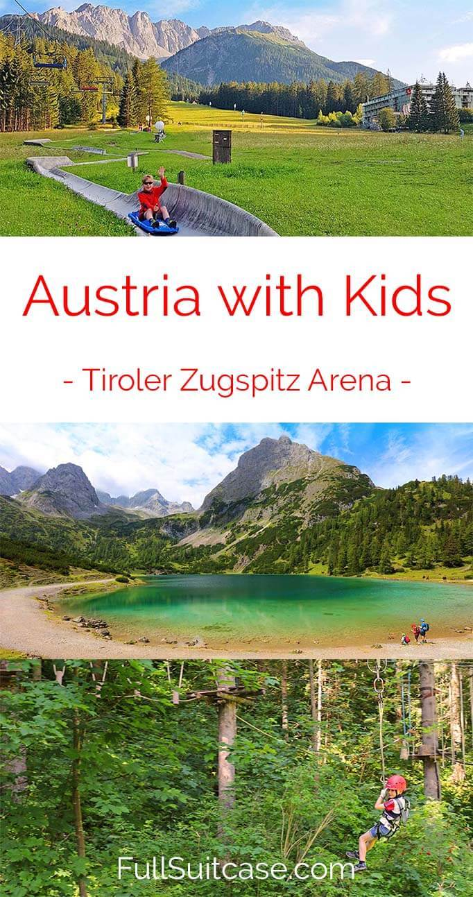 Best things to see and do in Tiroler Zugspitz Arena in summer with kids (Austria)
