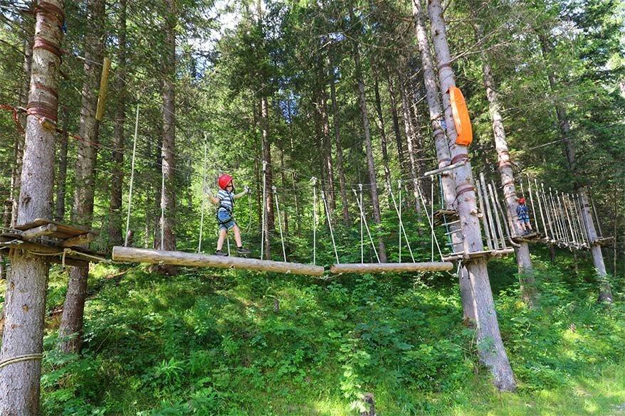 Bichlbach adventure park in Tiroler Zugspitz Arena