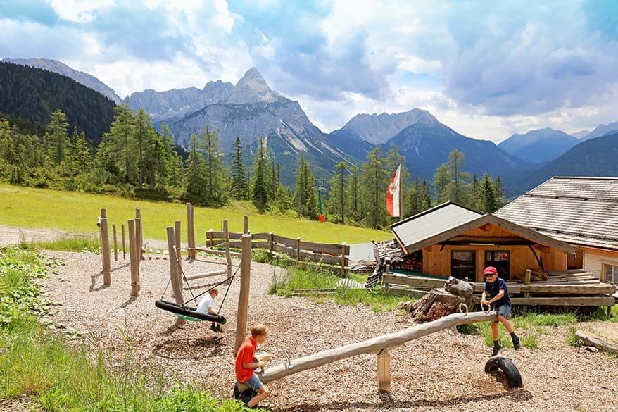 Children's playground at Gamsalm, Tiroler Zugspitz Arena