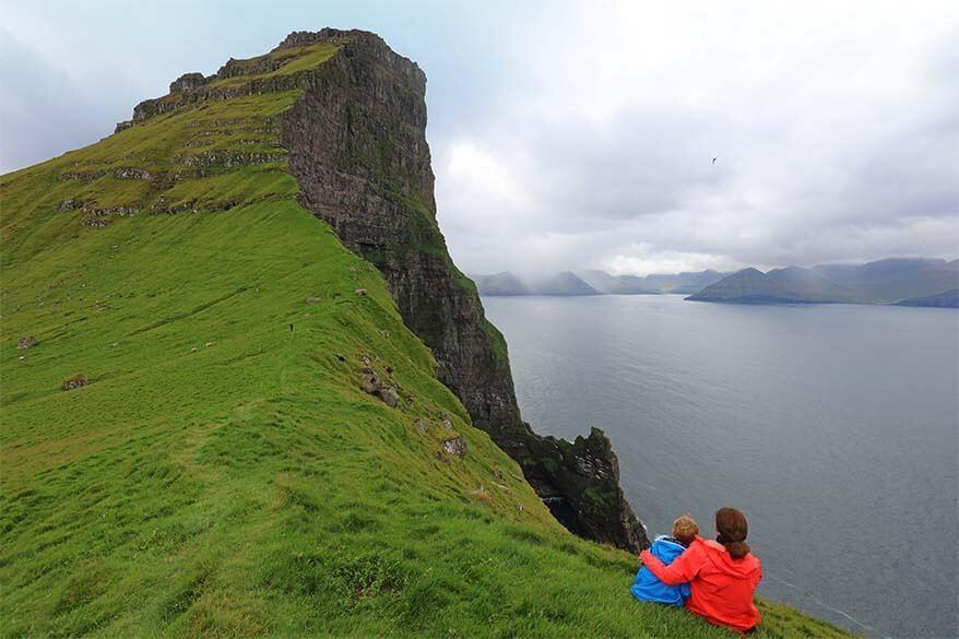 Coastline of Kalsoy island near Kallur Lighthouse - Faroe Islands