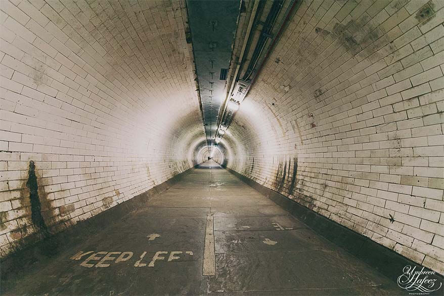 Greenwich Foot Tunnel is a secret place not many tourists find in London