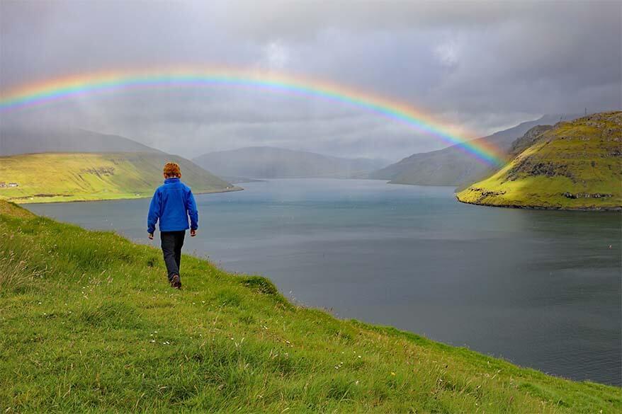 Hiking under the rainbow - Faroe Islands