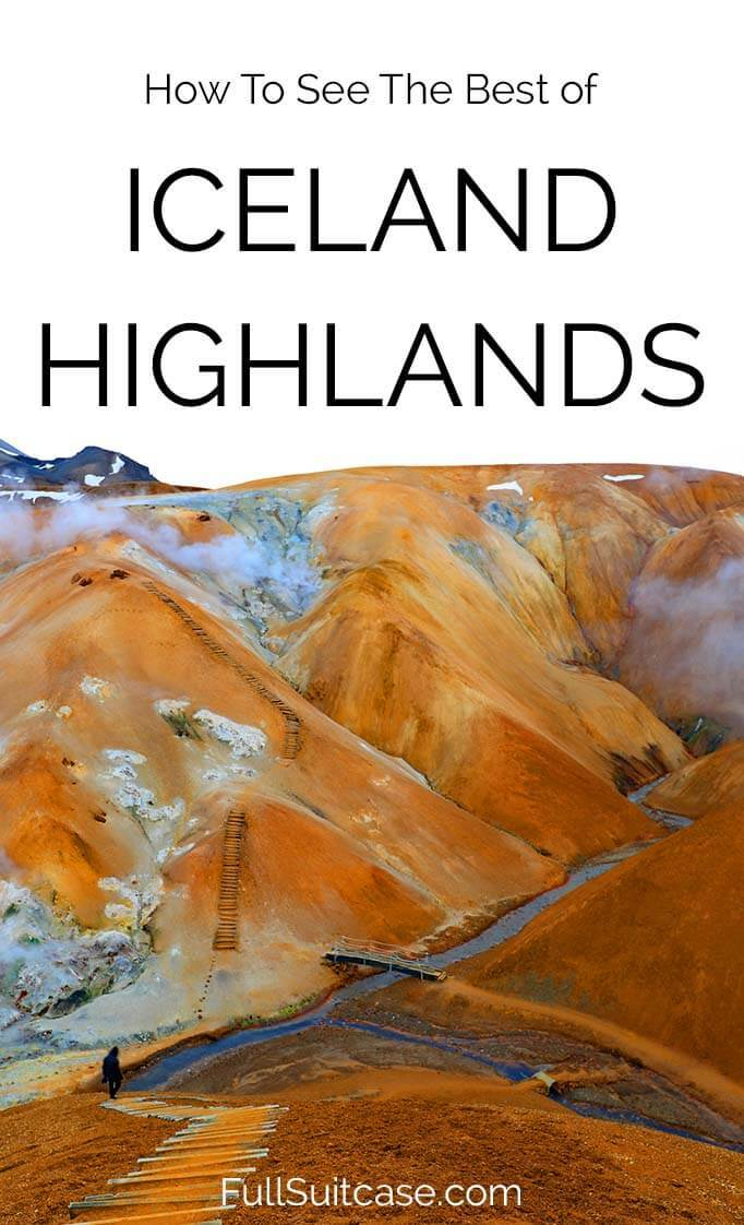 Icelandic highlands private tour is the best way to see secret places of Iceland's interior