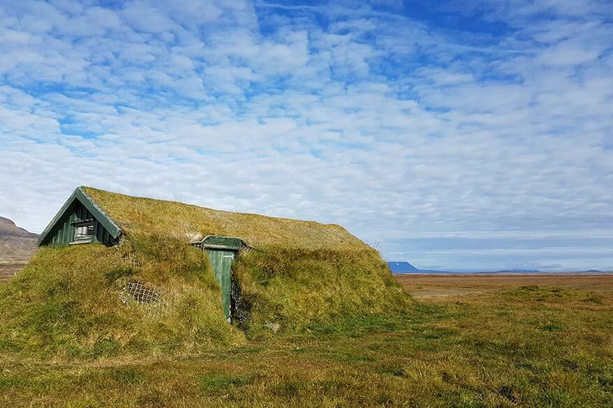 Icelandic turf house in the highlands