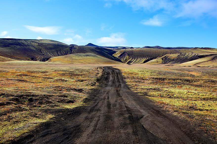 Landmannaleid road through Fjallabak Nature Reserve in Iceland