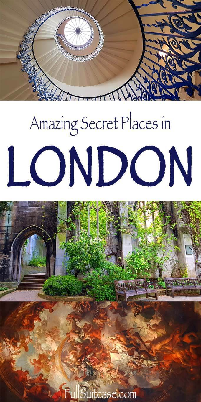 London hidden gems - selection of best secret places that are well worth to see