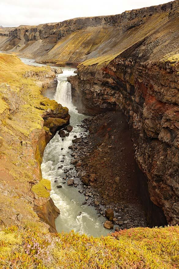 Markafljotsgljufur canyon in Iceland's highlands
