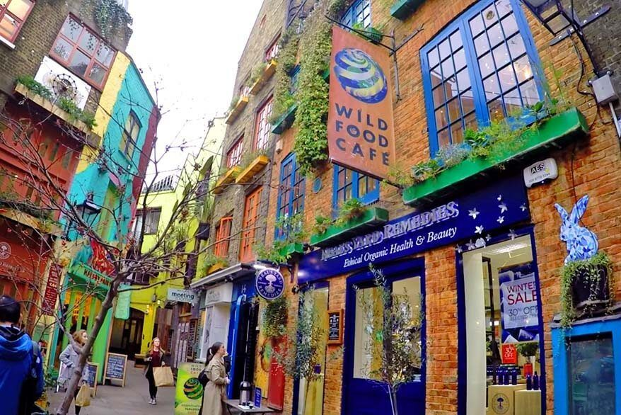 Neal's Yard Remedies - a secret alley near Covent Garden in London