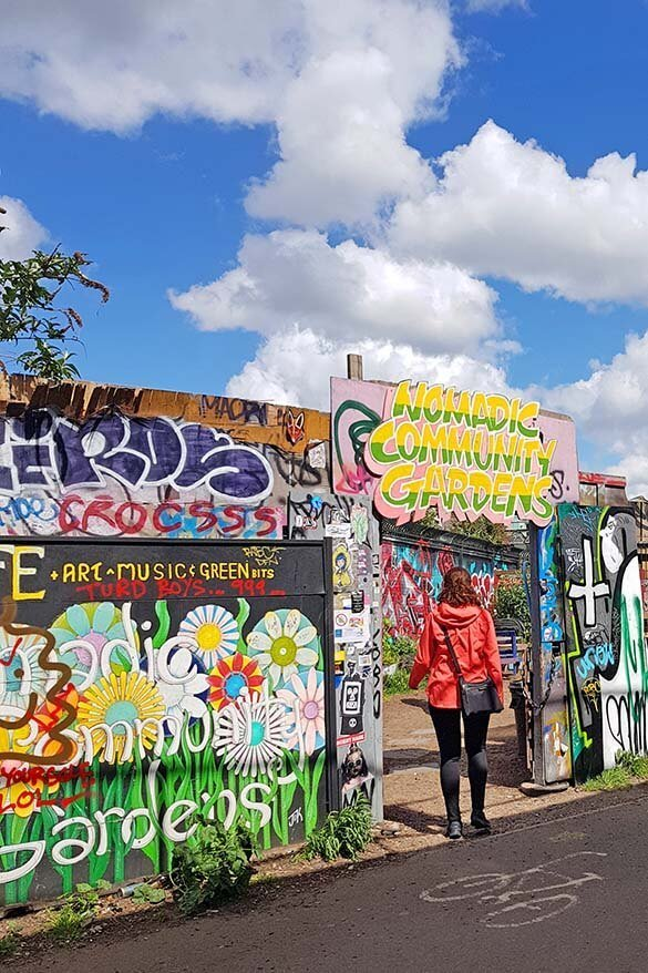 Nomadic Community Gardens - one of the most unusual places in London