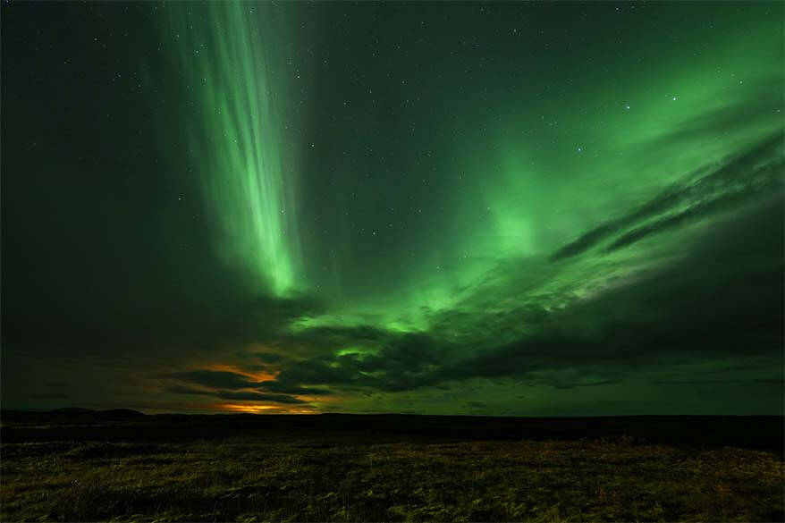 Northern Lights in Icelandic highlands in September