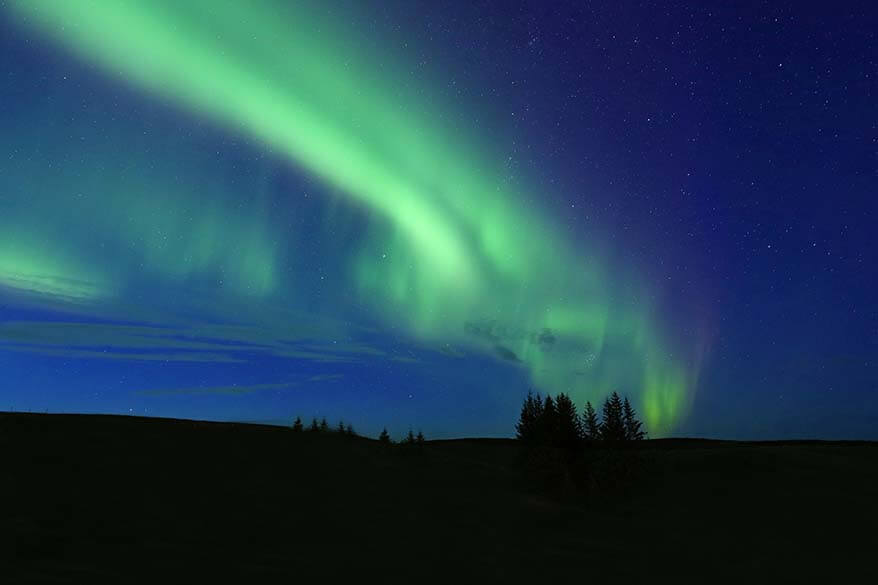 Northern Lights in South Iceland in September