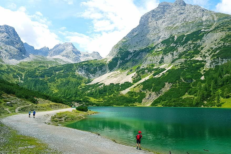 Seebensee is one of the nicest mountain lakes in Austria