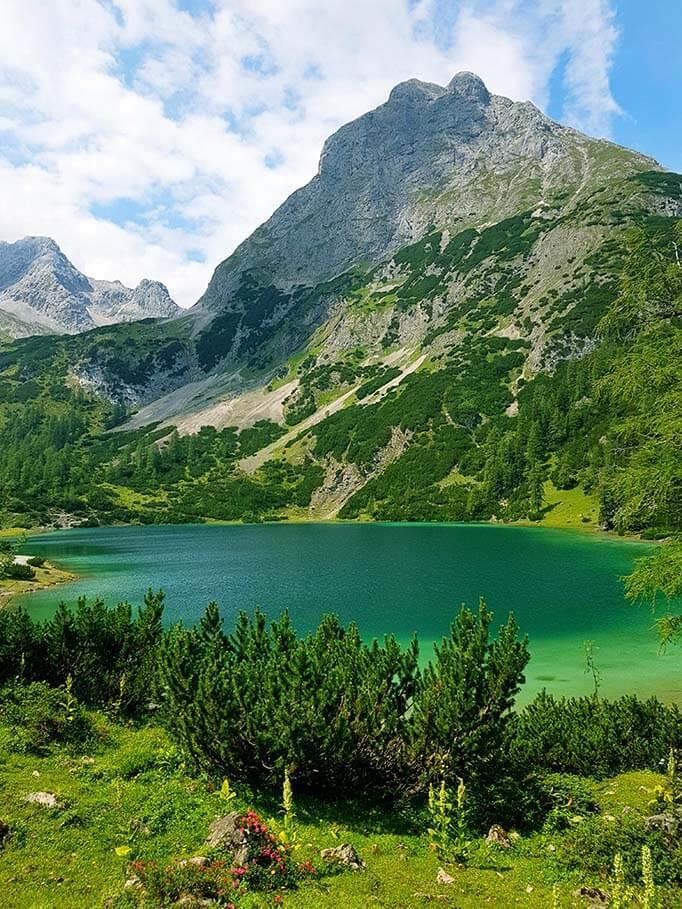 Seebensee lake in Tirol Austria