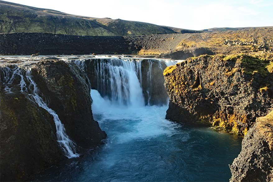 Sigoldufoss waterfall in Iceland