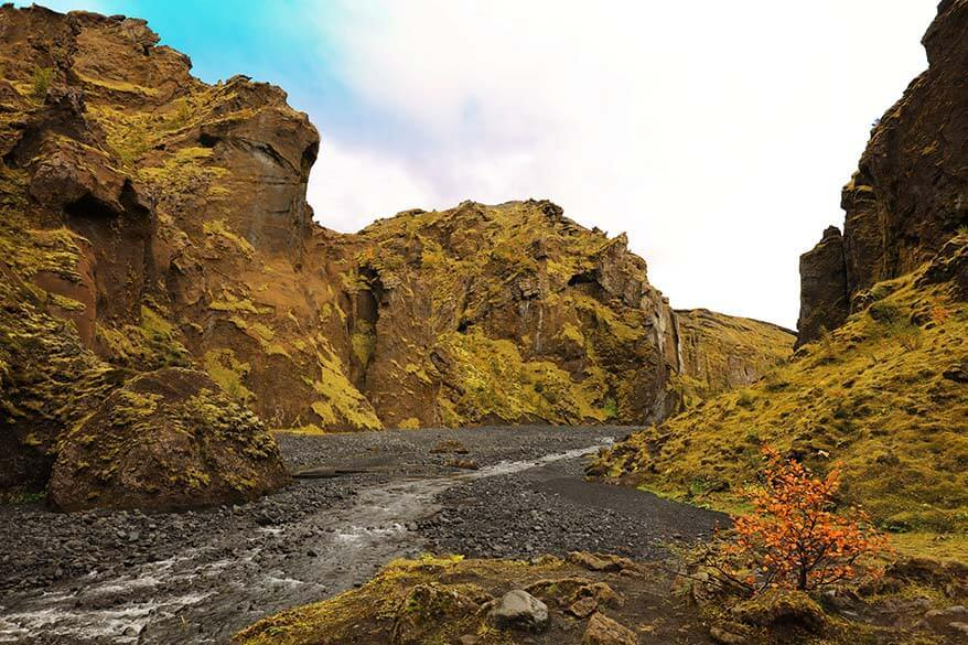 Stakkholtsgja - Stakkholts canyon in Thorsmork Iceland