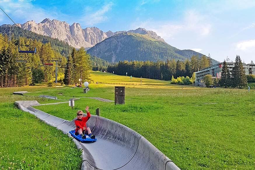 Summer toboggan in Biberwier is fun for the whole family