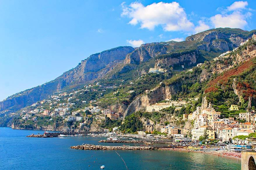 Amalfi town is just one of the places to see along the beautiful Amalfi Coast in Italy