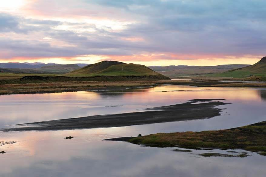 Beautiful sunset in Iceland
