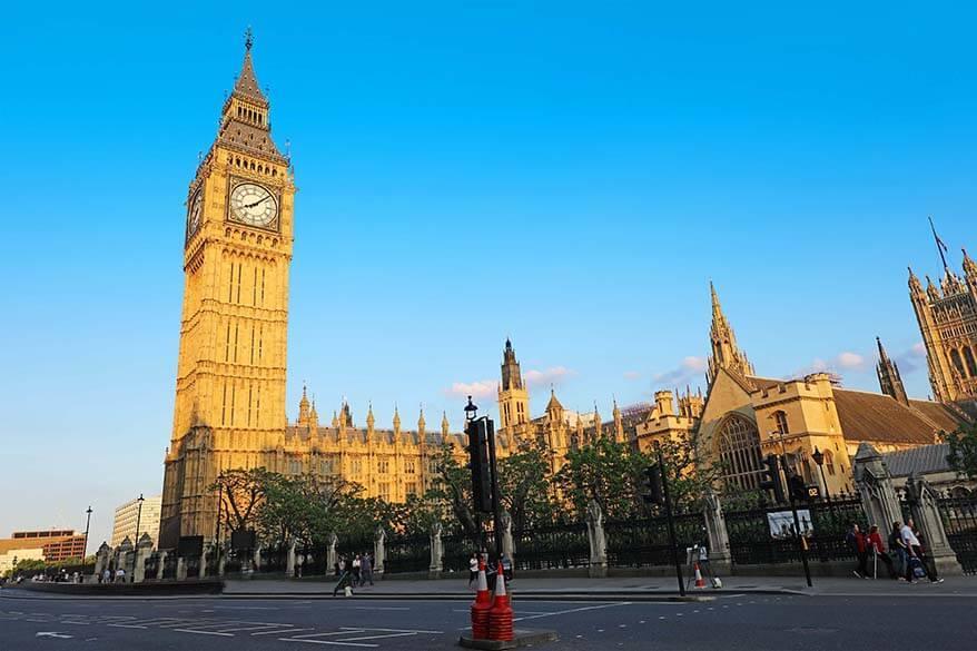 Big Ben or Elizabeth Tower in London