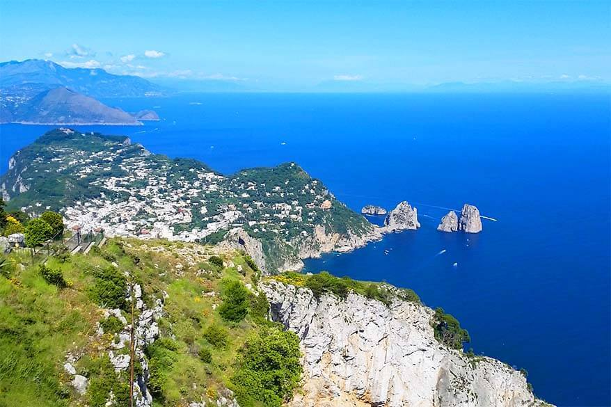 Capri island is just a short boat trip away from the Amalfi Coast