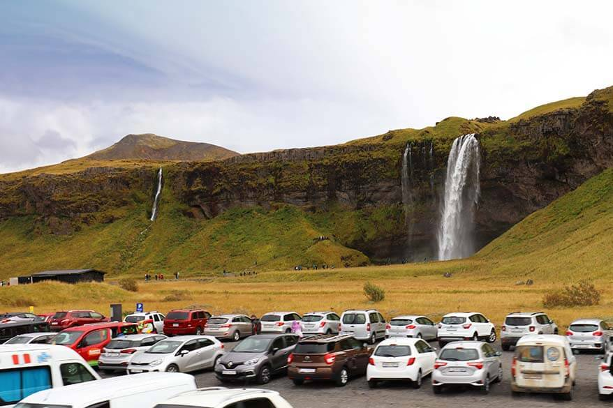 Car parking at Seljalandsfoss waterfall in Iceland is no longer free