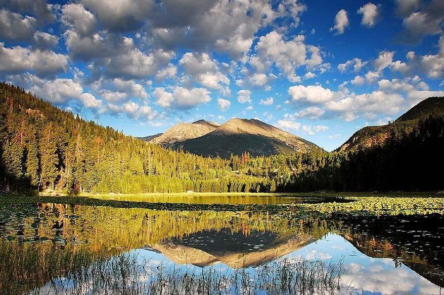 Cub Lake in Rocky Mountain NP Colorado