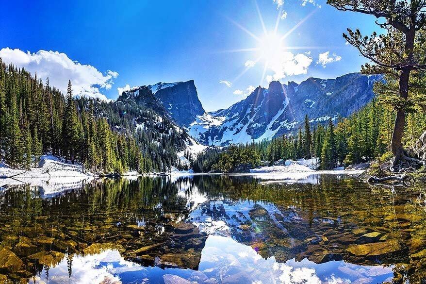 Dream Lake in Rocky Mountain National Park Colorado