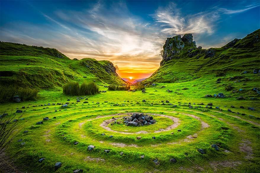 Fairy Glen on the Isle of Skye in Scotland