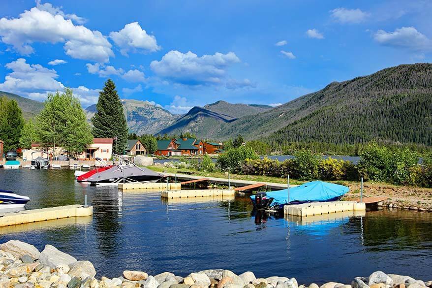Grand Lake near Rocky Mountain NP in Colorado
