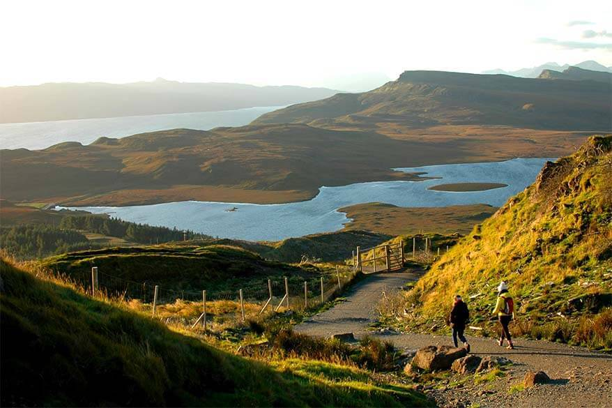 Hiking on the Isle of Skye in Scotland