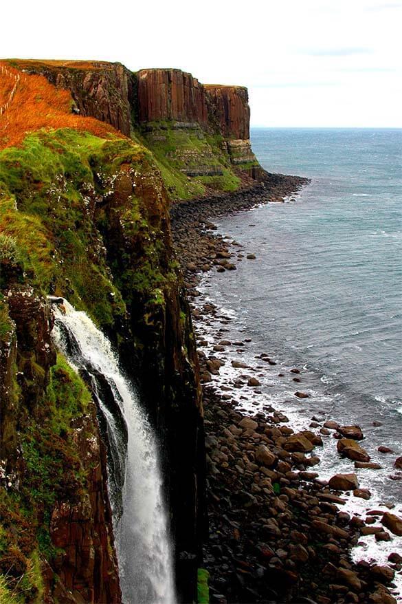 Kilt Rock and Mealt Falls - Isle of Skye in Scotland
