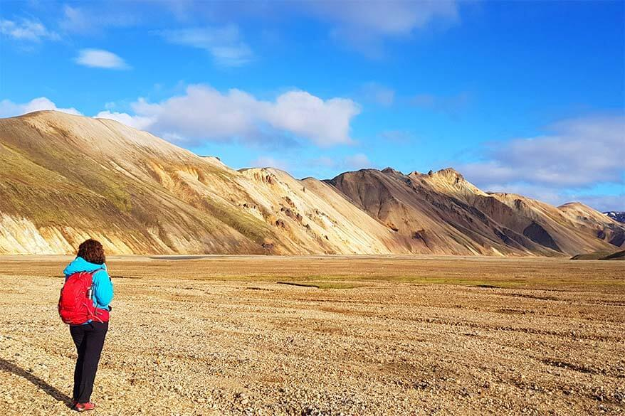 Landmannalaugar in Iceland on a beautiful day in September