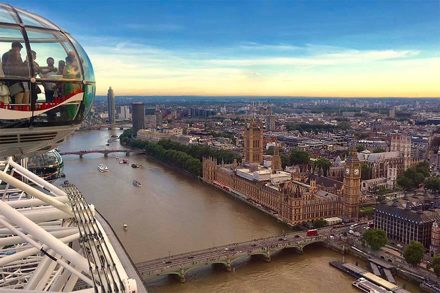 London Eye is not to be missed if visiting London for the first time