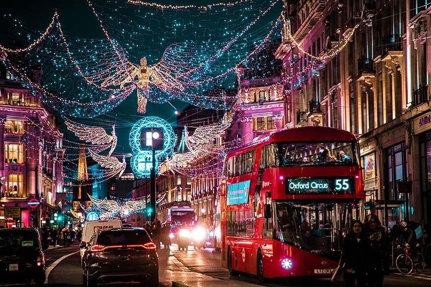 London's Oxford Street during Holiday Season