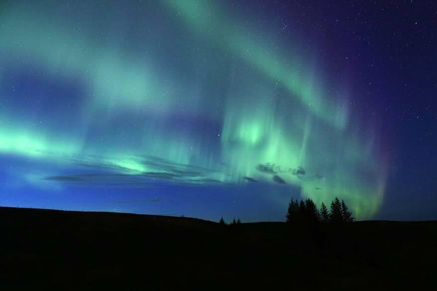 Northern Lights in Iceland in September