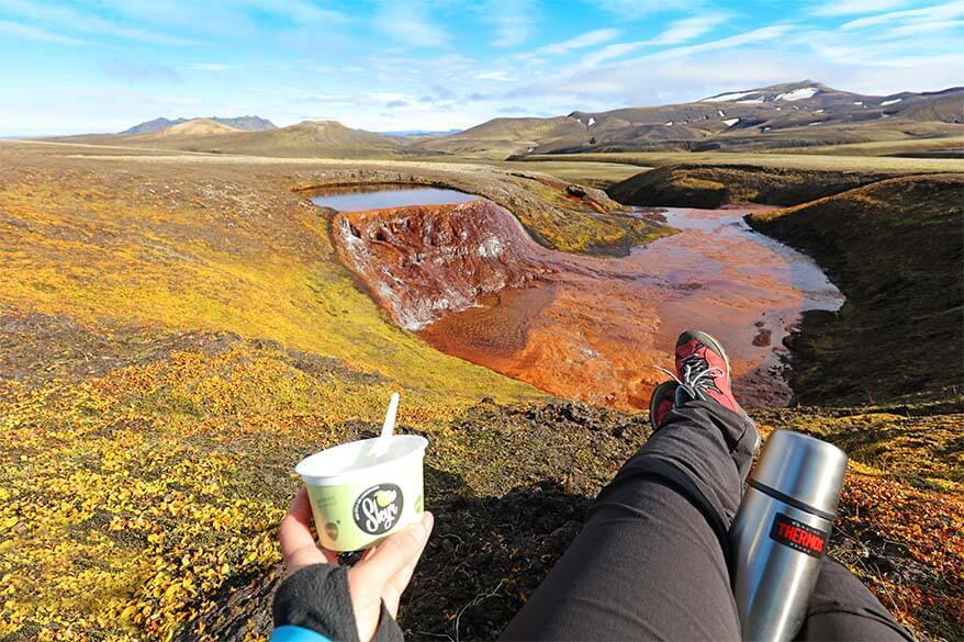 Picnic for lunch is one of the easiest ways to save time and money in Iceland