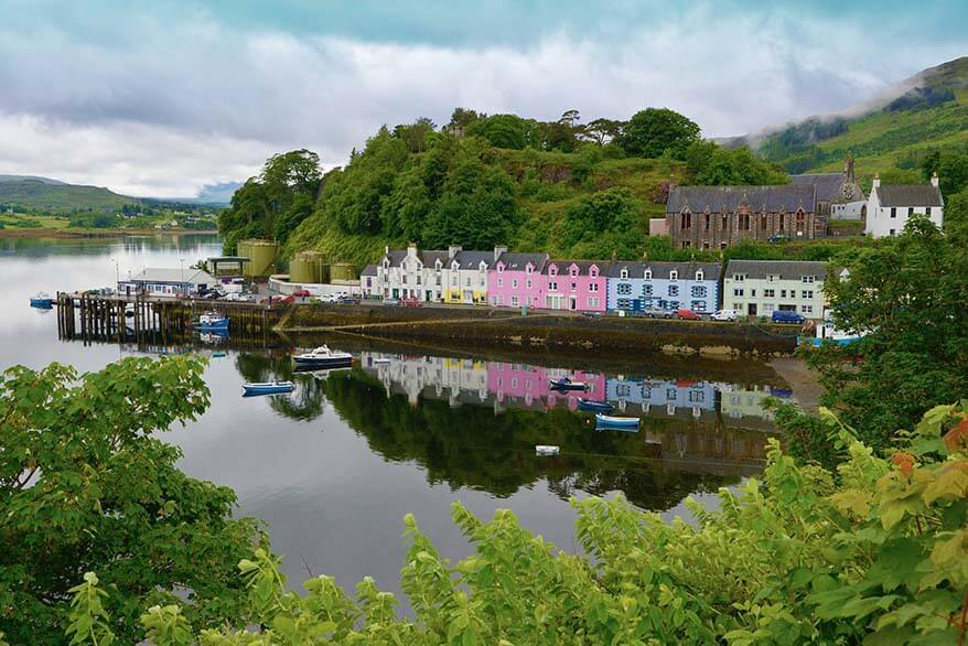 Portree village is one of the best places to stay on the Isle of Skye