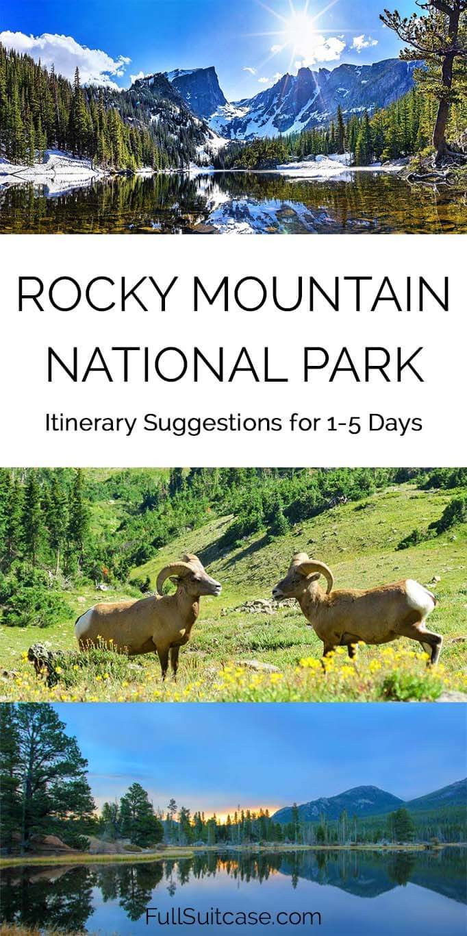 Rocky Mountain NP itinerary suggestions